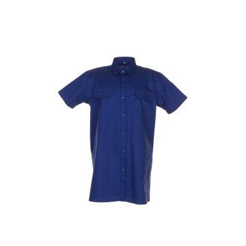 Planam Hemden Herren Köperhemd 1/4-Arm dunkelblau Modell 0418