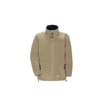 Planam Outdoor Fleece Herren Stream Fleecejacke camel marine Modell 0348