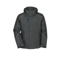 Planam Outdoor Winter Herren Desert Jacke grau schwarz...