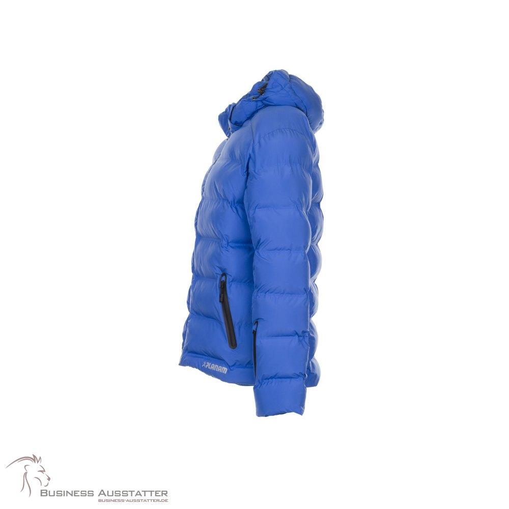 damen winter jacke royal blau