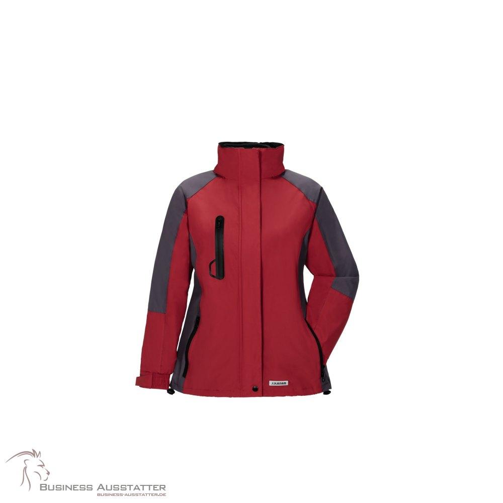 733054ee2aeeca Planam Outdoor Winter Shape Damen Jacke rot grau Modell 3637