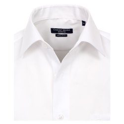 Größe 42 Casamoda Hemd Weiss Uni Kurzarm Comfort Fit Normal Geschnitten Kentkragen 100% Baumwolle Bügelfrei