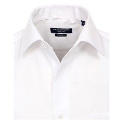 Größe 45 Casamoda Hemd Weiss Uni Kurzarm Comfort Fit Normal Geschnitten Kentkragen 100% Baumwolle Bügelfrei