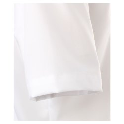 Größe 47 Casamoda Hemd Weiss Uni Kurzarm Comfort Fit Normal Geschnitten Kentkragen 100% Baumwolle Bügelfrei