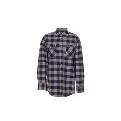 Größe 41/42 Herren Planam Hemden Squarehemd schwarz zink Modell 0492