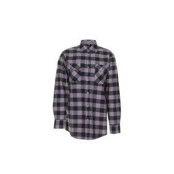 Größe 47/48 Herren Planam Hemden Squarehemd schwarz zink Modell 0492
