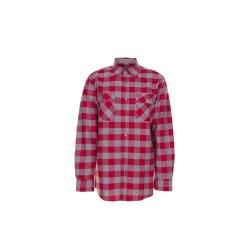Größe 37/38 Herren Planam Hemden Squarehemd rot zink Modell 0493