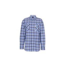 Größe 47/48 Herren Planam Hemden Countryhemd langarm blau kariert Modell 0480