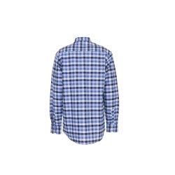 Größe 49/50 Herren Planam Hemden Countryhemd langarm blau kariert Modell 0480