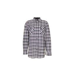 Größe 43/44 Herren Planam Hemden Countryhemd langarm schwarz kariert Modell 0481