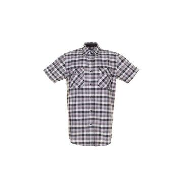 Größe 43/44 Herren Planam Hemden Countryhemd 1/4-Arm schwarz kariert Modell 0486