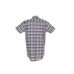 Größe 45/46 Herren Planam Hemden Countryhemd 1/4-Arm schwarz kariert Modell 0486