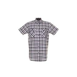Größe 47/48 Herren Planam Hemden Countryhemd 1/4-Arm schwarz kariert Modell 0486