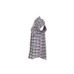 Größe 49/50 Herren Planam Hemden Countryhemd 1/4-Arm schwarz kariert Modell 0486