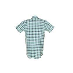 Größe 37/38 Herren Planam Hemden Countryhemd 1/4-Arm grün kariert Modell 0487