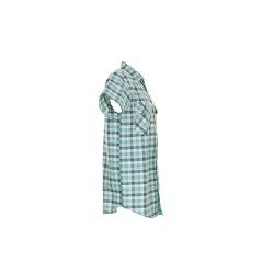 Größe 43/44 Herren Planam Hemden Countryhemd 1/4-Arm grün kariert Modell 0487