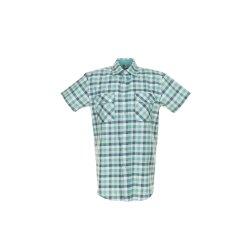 Größe 47/48 Herren Planam Hemden Countryhemd 1/4-Arm grün kariert Modell 0487