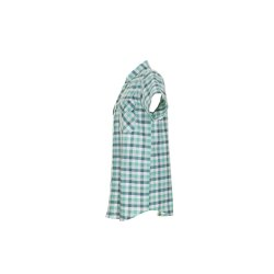 Größe 49/50 Herren Planam Hemden Countryhemd 1/4-Arm grün kariert Modell 0487