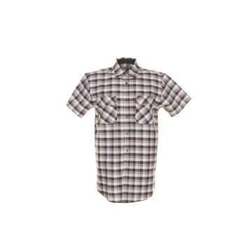 Größe 37/38 Herren Planam Hemden Countryhemd 1/4-Arm stone kariert Modell 0488