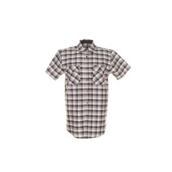 Größe 43/44 Herren Planam Hemden Countryhemd 1/4-Arm stone kariert Modell 0488