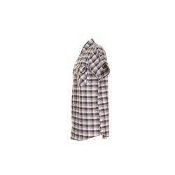 Größe 49/50 Herren Planam Hemden Countryhemd 1/4-Arm stone kariert Modell 0488