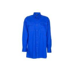 Größe 49/50 Herren Planam Hemden Köperhemd langarm mittelblau Modell 0407