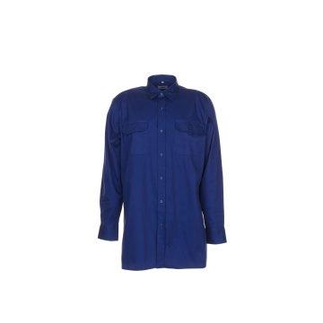 Größe 43/44 Herren Planam Hemden Köperhemd langarm dunkelblau Modell 0417