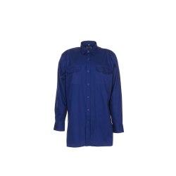 Größe 45/46 Herren Planam Hemden Köperhemd langarm dunkelblau Modell 0417