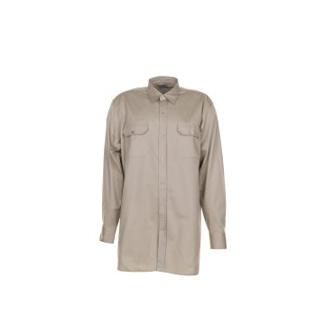 Größe 37/38 Herren Planam Hemden Köperhemd langarm khaki Modell 0409