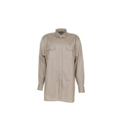 Größe 41/42 Herren Planam Hemden Köperhemd langarm khaki Modell 0409