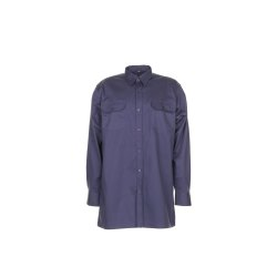 Größe 47/48 Herren Planam Hemden Köperhemd langarm grau Modell 0406