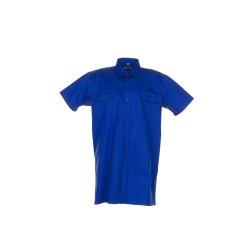 Größe 39/40 Herren Planam Hemden Köperhemd 1/4-Arm mittelblau Modell 0410