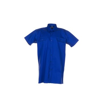 Größe 43/44 Herren Planam Hemden Köperhemd 1/4-Arm mittelblau Modell 0410