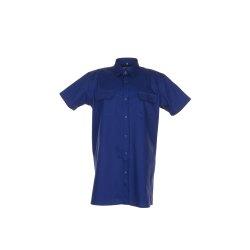Größe 37/38 Herren Planam Hemden Köperhemd 1/4-Arm dunkelblau Modell 0418