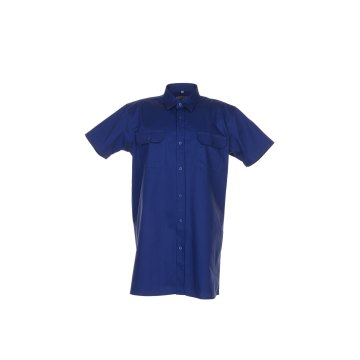 Größe 39/40 Herren Planam Hemden Köperhemd 1/4-Arm dunkelblau Modell 0418
