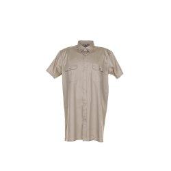 Größe 49/50 Herren Planam Hemden Köperhemd 1/4-Arm khaki Modell 0412