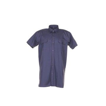 Größe 47/48 Herren Planam Hemden Köperhemd 1/4-Arm grau Modell 0405