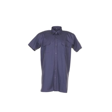 Größe 49/50 Herren Planam Hemden Köperhemd 1/4-Arm grau Modell 0405