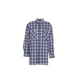 Größe 37/38 Herren Planam Hemden Flanellhemd 2001 blau Modell 0450