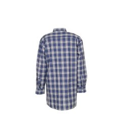 Größe 41/42 Herren Planam Hemden Flanellhemd 2001 blau Modell 0450