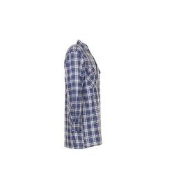 Größe 45/46 Herren Planam Hemden Flanellhemd 2001 blau Modell 0450