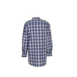Größe 49/50 Herren Planam Hemden Flanellhemd 2001 blau Modell 0450