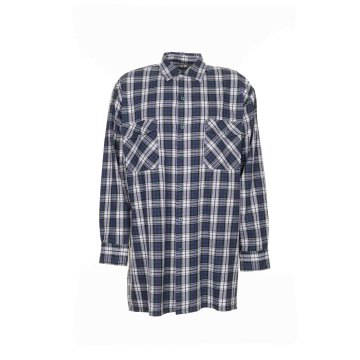 Größe 39/40 Herren Planam Hemden Flanellhemd 2001 grün Modell 0452