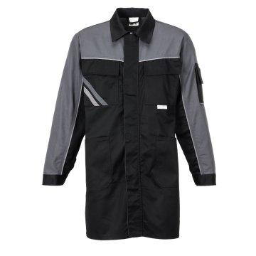 Größe 64 Herren Planam Highline Berufsmantel schwarz schiefer zink Modell 2716