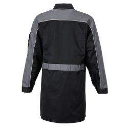 Größe 114 Herren Planam Highline Berufsmantel schwarz schiefer zink Modell 2716
