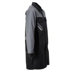 Größe 63 Herren Planam Highline Berufsmantel schwarz schiefer zink Modell 2716