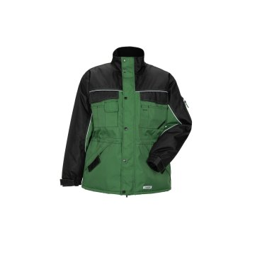 Größe M Herren Planam Outdoor Winter Dust Parka farngrün schwarz Modell 3317