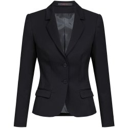 Greiff Corporate Wear Basic Damen Blazer Slim Fit Schwarz...