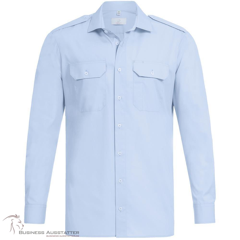 Greiff Corporate Wear Basic Herren Pilothemd neues Modell Langarm Weiss