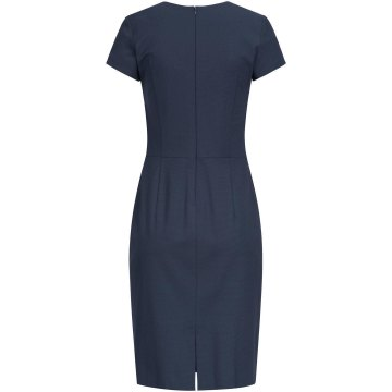 Größe 36 Greiff Corporate Wear Premium Damen Etuikleid Regular Fit Blau Mikrodessin Modell 1068